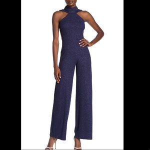 Bebe High Neck Sparkle Glitter Jumpsuit size 8